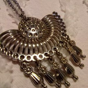 Silver Tone W/Dreamcatcher Tassel Pendant